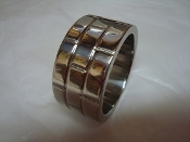 Wide Brick Band Stainless Steel Cock Ring