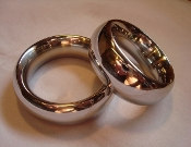 Polished Stainless Steel Donut Cock Rings