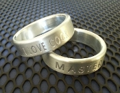 Engraved Stainless Steel Band Cock Ring