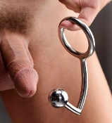 Combo Cock Ring with Anal Intruder Plug
