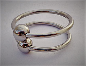 Dual Glans Head Ring with Ball